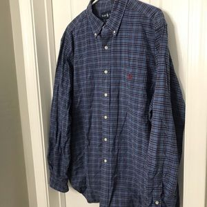 Ralph Lauren Blur / Black Flannel Button Shirt
